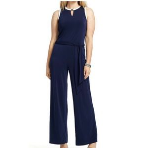 Lauren Ralph Lauren Navy Blue Jumpsuit Size Small